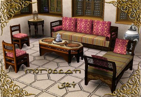 moroccan living room furniture mod the sims the moroccan set theme multicultural