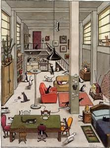 design works home is where the cat is prepositions and directions esl resources