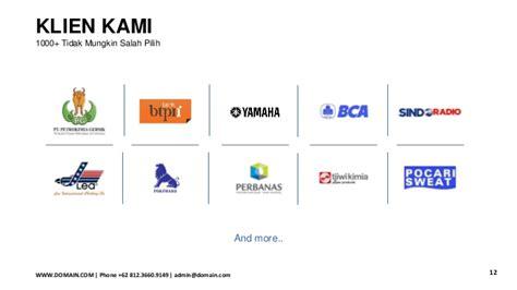 contoh layout presentasi contoh presentasi company profile perusahaan format