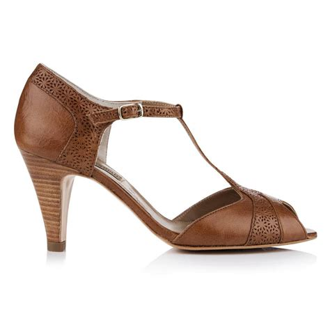nora leather vintage t bar shoes by agnes norman