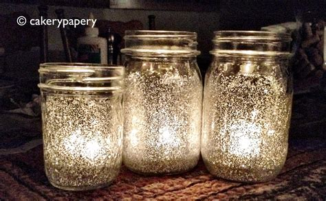 Colored Kitchen Canisters Glitter Mason Jar Candles