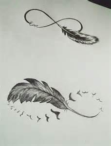 Infinity Bird Best 25 Infinity Feather Tattoos Ideas On