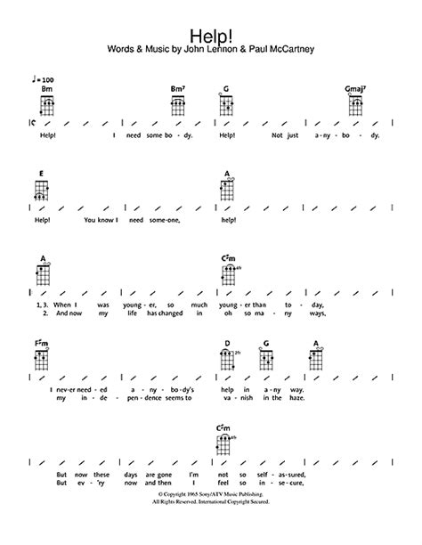 strumming pattern how you get the girl help sheet music by the beatles ukulele with strumming