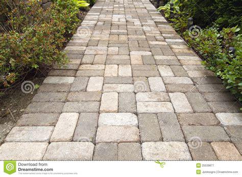 Landscaping Brick Pavers Garden Brick Paver Path Walkway Royalty Free Stock