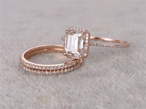 Emerald Moissanite emerald cut moissanite engagement rings wedding
