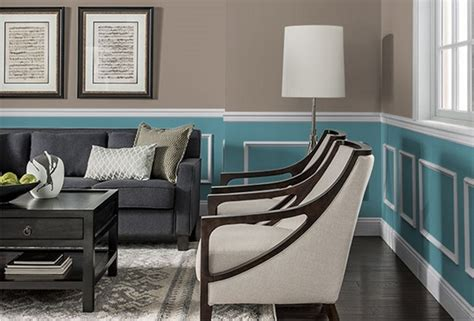 Living Room Color Schemes With Chair Rail Visualizing Living Room Paint Schemes My