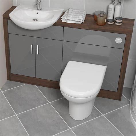 Grey Bathroom Vanity Unit Lucido 1200 Vanity Unit Grey Buy At Bathroom City