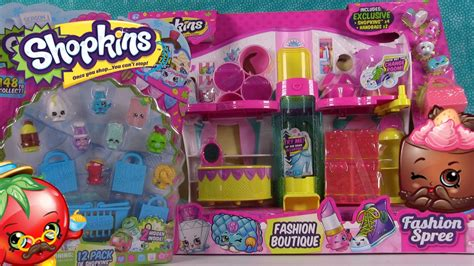 shopkins fashion boutique playset season 1 12 pack blind bags review pstoyreviews