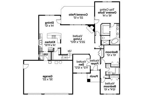 Prairie Floor Plans by Prairie Style House Plans Cheyenne 30 643 Associated
