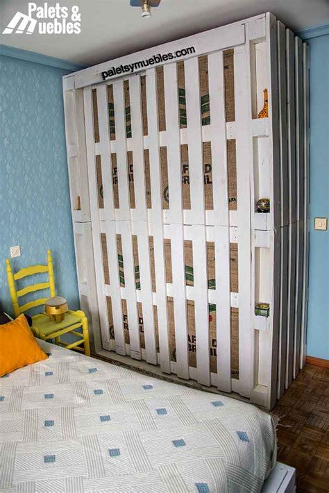armarios hechos con palets dormitorio con palet armario hecho de palets palets y