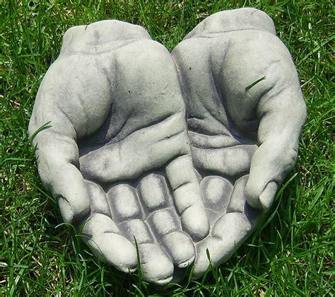 beton zement steingu 223 skulptur h 228 nde offen gartendeko art