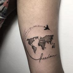 35 best world map tattoo ideas for travel lovers map
