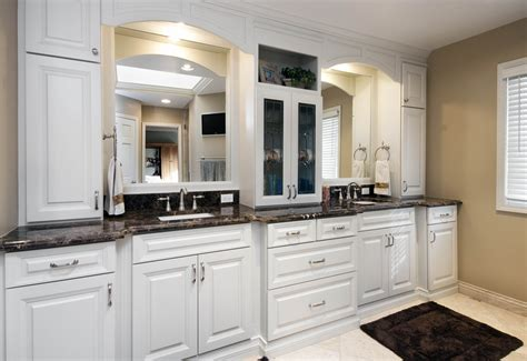 White Raised Panel Kitchen Cabinets by Bathrooms Summit Renovations
