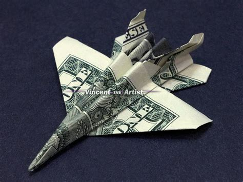 Army Origami - f 18 jet fighter money origami dollar army navy