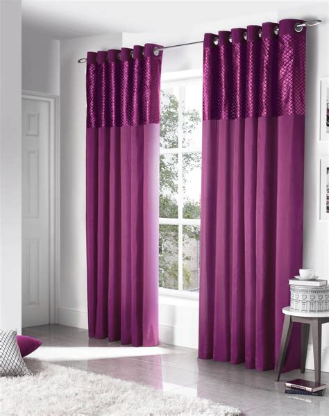 velvet purple curtains faux silk cut velvet purple lined ring top curtains drapes