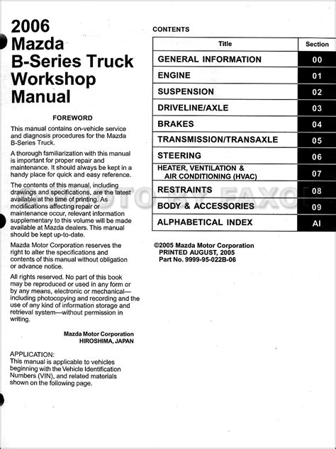 repair manual for a 2003 mazda b series service manual automobile fuse manual for a 1991 mazda b