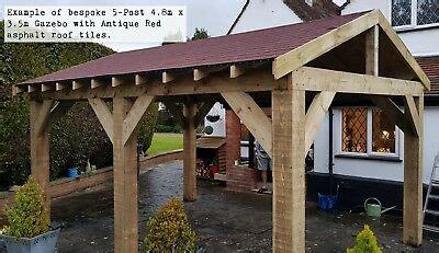 4 6m X 3m 5 Post Timber Garden Gazebo Hot Tub Canopy Kit