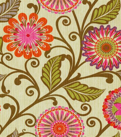 home decor print fabric hgtv home blosson berry