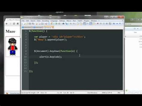 jquery tutorial game jquery game tutorial moving a character 17 youtube