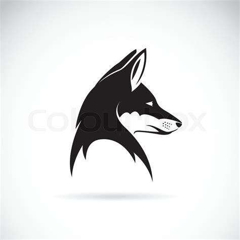 imagenes de zorros en blanco y negro vektor bild von einem fuchs kopf vektorgrafik colourbox