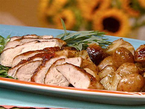 recipes for turkey tenderloin baked roasted turkey tenderloin with new potatoes and tarragon