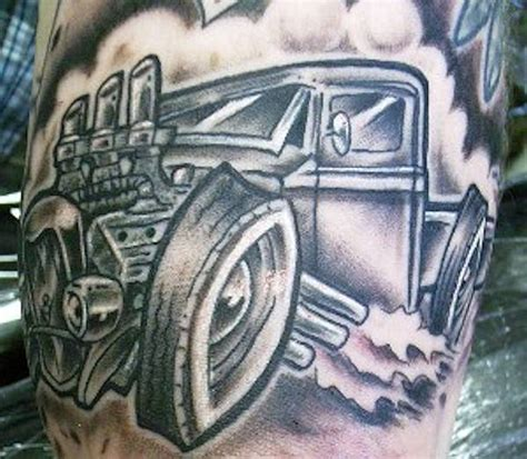 rat rod tattoo designs photo gallery rod car and truck tattoos
