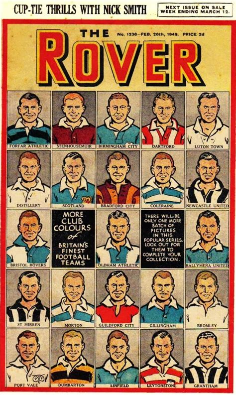 club colors football cartophilic info exchange d c thomson the