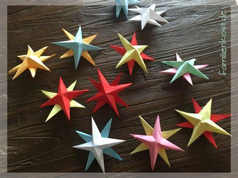 3d Weihnachtssterne Basteln by 3d Sterne Basteln Mit Kindern Aus Papier Anleitung