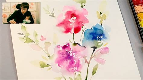 watercolor tutorial for beginners youtube lvl3 watercolor flowers tutorial youtube