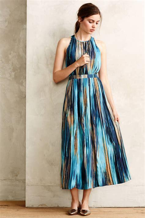 Crown Dress lyst paper crown rivier midi dress in blue