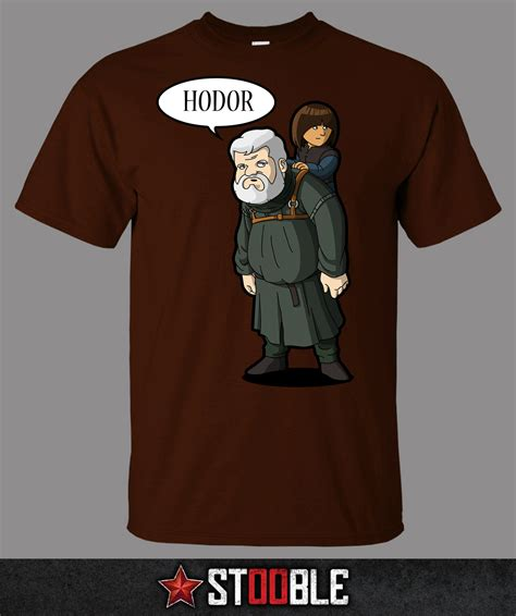 hodor and bran t shirt new direct from manufacturer