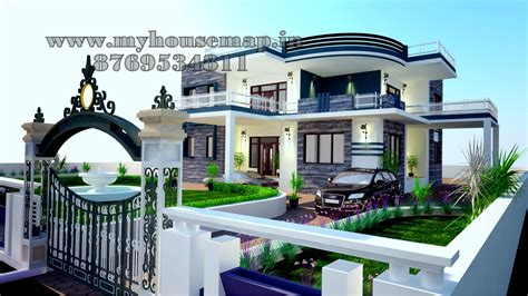 Luxury Home Design India Modern Elevation Bungalow Design Front Elevation Design