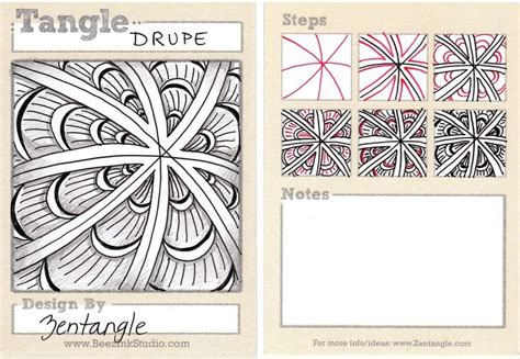 zentangle pattern drupe beez in the belfry tangle of the week drupe
