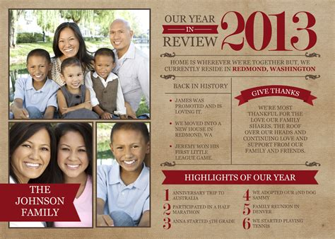 family year in review card template the best card trends for 2013 mixbook inspiration