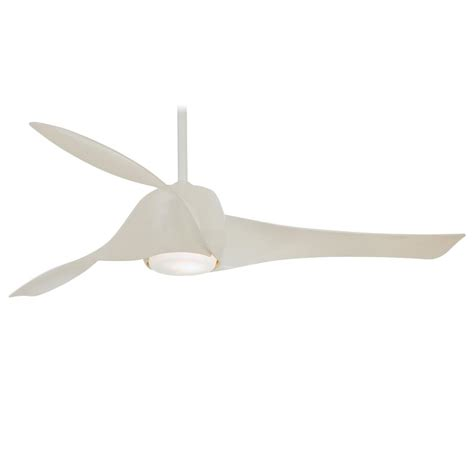 minka aire f803l wh gloss white artemis ceiling fan w wall