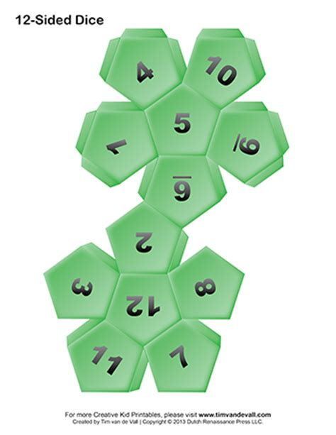 printable dice printable paper dice template pdf make your own 6 10