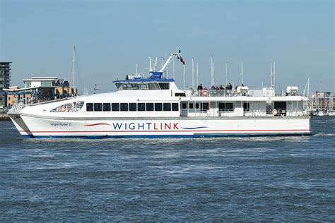 catamaran ferry to isle of wight sailings cancelled on wightlink isle of wight radio