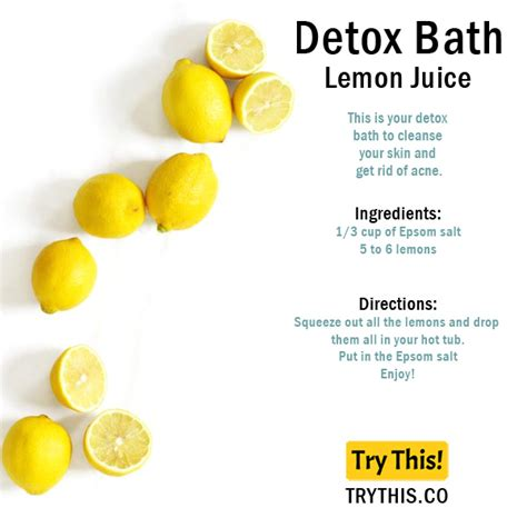Detox With Lemon Juice by Top 25 Detox Bath Recipes Tips