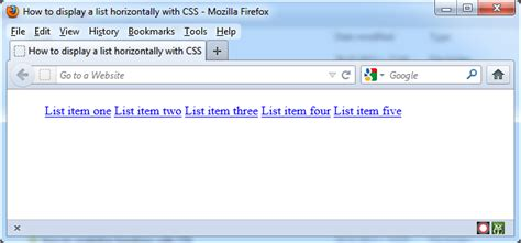 css tutorial with asp net how to display a list horizontally with css tutorial