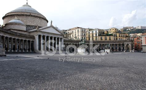 piazza plebiscito in naples italy stock photos