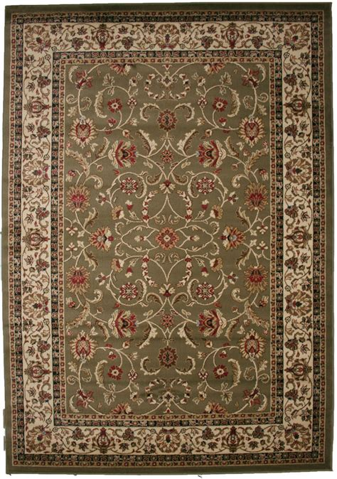 Green Area Rug 8x10 8x10 Area Rug New Border Floral Kashan Green Beige Traditional Ebay