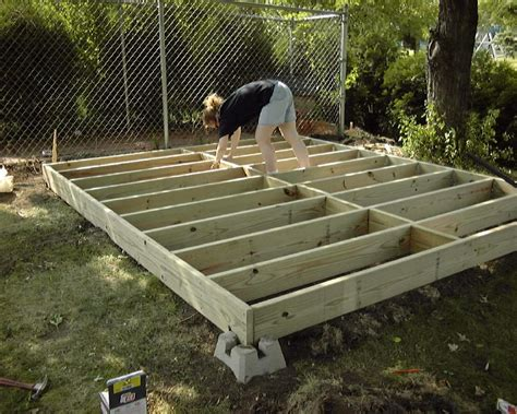 build backyard shed crav building garden shed base