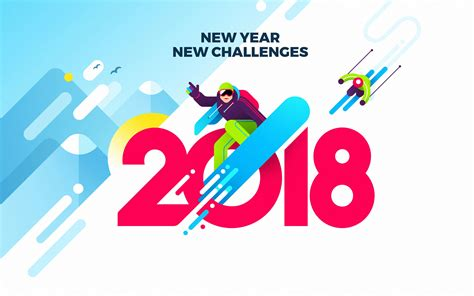 new year new challenges 2018 wallpaper