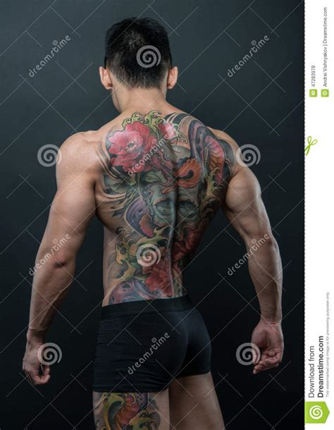 korean model with tattoo stock photo image 47283978