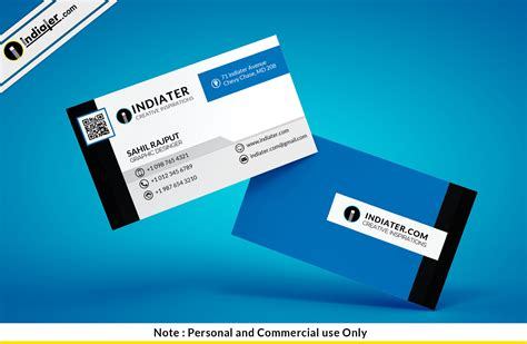 Minimalist Business Card Template Psd by Business Card Blue Psd Gallery Card Design And Card Template