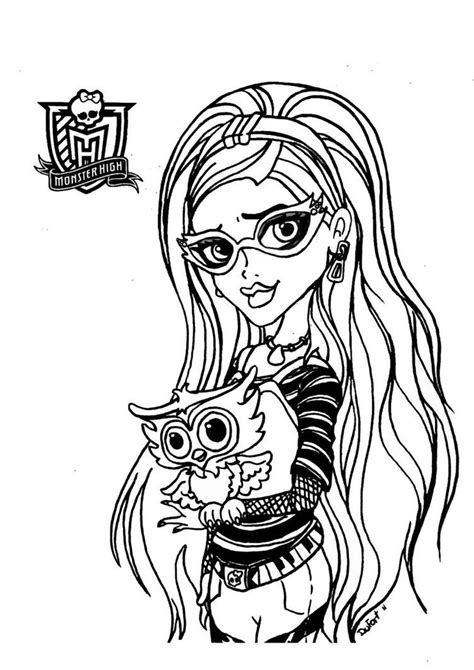Ghoulia Yelps Monster High Desenhos Para Colorir Coloring Pages For High Printable Free