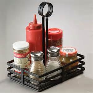 Wall Spice Rack Organizer American Metalcraft Fwc68 Condiment Caddy Black