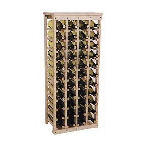 Wine Wood Rack by Wooden Wine Rack Holds 44 Bottles Unfinished Pine