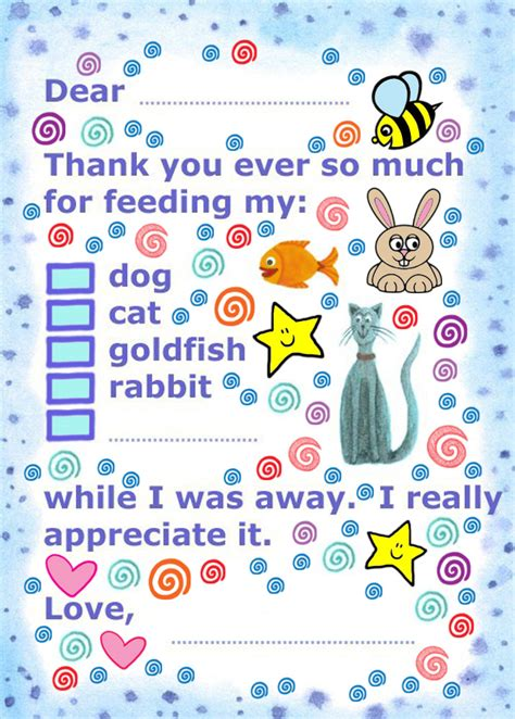 printable thank you notes uk thank you for feeding my pet rooftop post printables