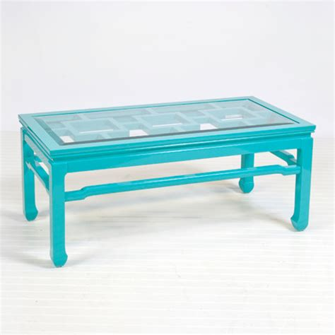 Turquoise Coffee Table by Changright Turquoise Coffee Table Coffee Tables By Worlds Away